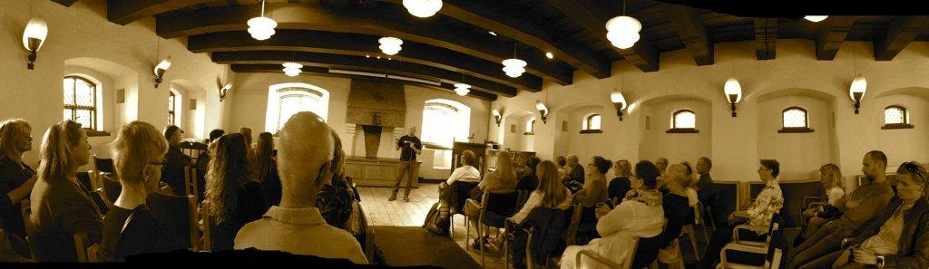 Lecture at Helligaandshuset, Randers, Denmark, 2017