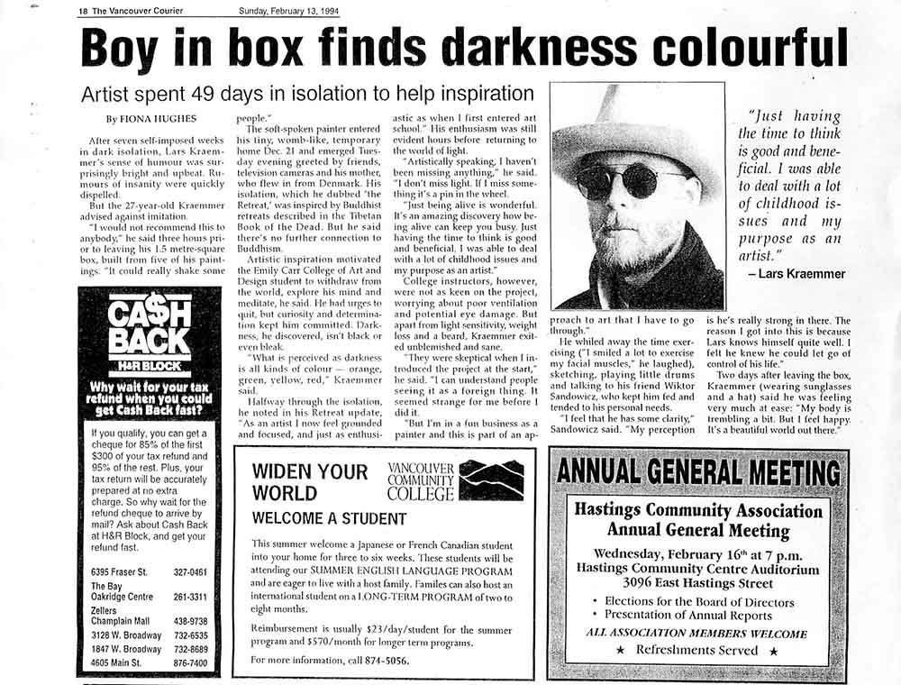 Boy in Box, article, 1994