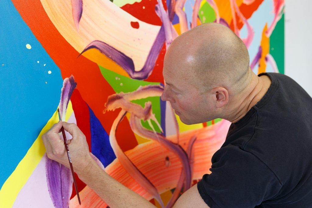 Lars Kraemmer painting, 2015