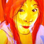 Thai girl. 120x150 cm, acrylic on  canvas
