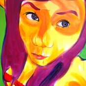 Thai girl. 120x150 cm, acrylic on  canvas