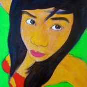 Thai girl, acrylic on canvas