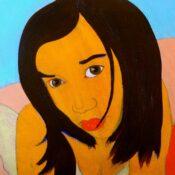 Thai girl, acrylic on canvas